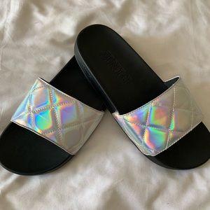 Pink slide shoes